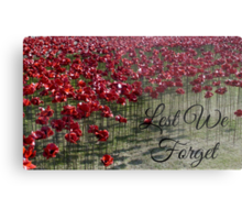 Lest We Forget - Poppies at the Tower Metal Print