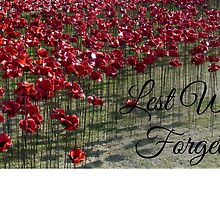 Lest We Forget - Poppies at the Tower by InterestingImag