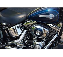 The Motorcycle as Art: Harley-Davidson Heritage Softail > Photographic Print