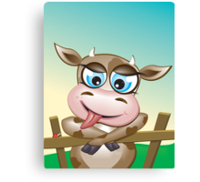 Critterz-Brown Cow - cheeky agnes Canvas Print