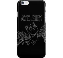 AYE SIR! (white) iPhone Case/Skin