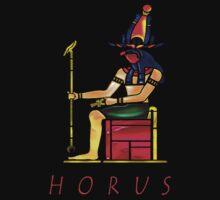 Seated Horus Tee by Mariaan M Krog Fine Art Portfolio