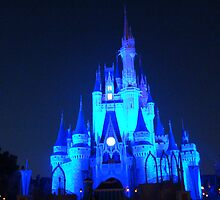 Disney's Magic Kingdom Cinderella's Castle at Night by MM07