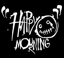 Happy Mourning Logo 2 White by James Ashman