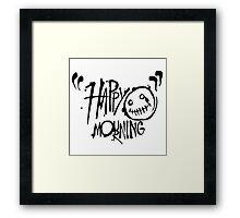 Happy Mourning Logo 2 Black  Framed Print