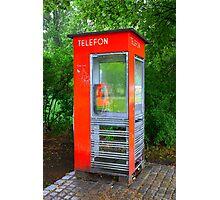 Norwegian Telephone Booth Photographic Print