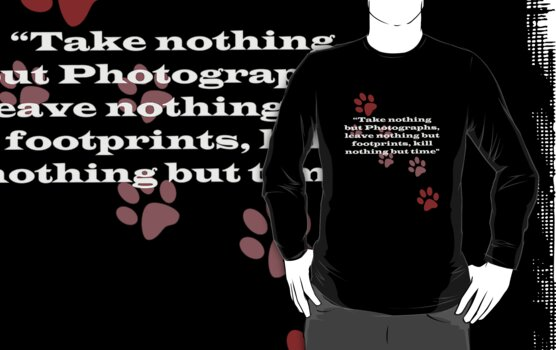 T-Shirt - Only Footprints v3 by ©FoxfireGallery / FloorOne Photography
