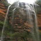 Wentworth Falls .. the first spray by Michael Matthews