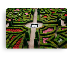 Formal Garden - Chateau Villandry, Loire Valley 3 Canvas Print
