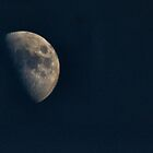Waxing moon by missmoneypenny