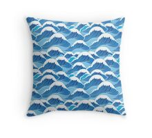 sea wave pattern Throw Pillow