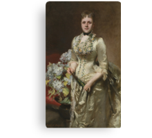 John Singer Sargent (1856–1925), Mrs. Jacob Wendel,1888. Oil on canvas. Canvas Print
