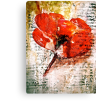 The Poppy Journals...Words in Music Canvas Print
