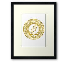 Mayan Calendar Steal Your Face - GOLD Framed Print