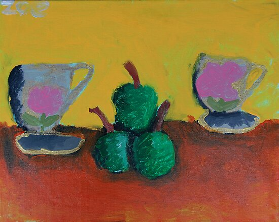 Still Life by Zoe Thomas Age 6 by Julia  Thomas