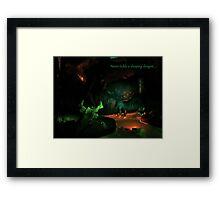 Never Tickle A Sleeping Dragon Framed Print