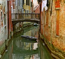 Little Boat on Canal in Venice by Michael Henderson