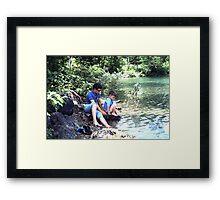 Blue Pond, Newfoundland Framed Print