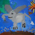 Elephant by Zoe Thomas age 5 by Julia  Thomas
