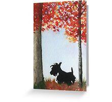 Scottie Dog Greeting Card