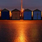 Beach Huts After Dark by Diado