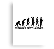 Evolution world's best lawyer Canvas Print