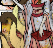 Kitsune of Sunset Sticker