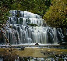 Purakaunui Falls New Zealand by Neil