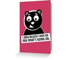 Naughty Bear Greeting Card