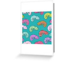 Rainbow Chameleon Pattern Greeting Card