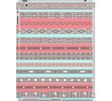 Aqua Peach Pastel Salmon Aztec Print iPad Case/Skin