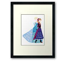 Elsa and Anna Framed Print