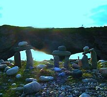 Inukshuk at the Arches by Cameron  Allen Lamond