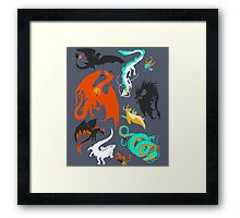 A Flight with Dragons Framed Print