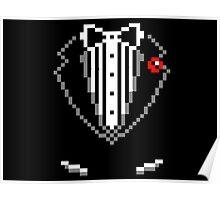 8-bit Tuxedo Poster