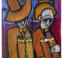 old soldiers on ANZAC day by glennbrady