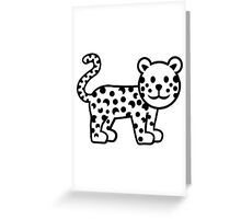 Comic leopard Greeting Card