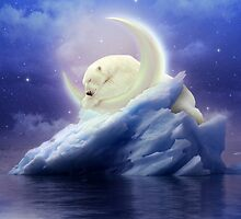 Guard Your Heart. Protect Your Dreams. (Polar Bear Moon) by soaringanchor