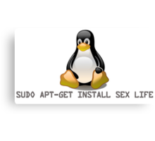 Linux - Get Install Sex Life Canvas Print