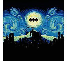 Starry Knight Gotham City Photographic Print