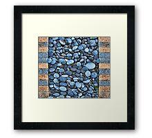 River Rock Duvet Framed Print