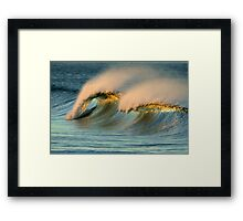 A Pair of Crests On One Wave Framed Print