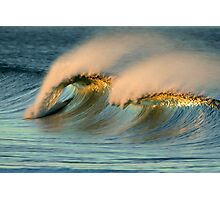 A Pair of Crests On One Wave Photographic Print