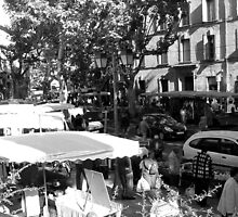 Market Day In Uzes by Monica Vanzant