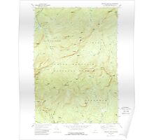 Maine USGS Historical Map Speckled Mountain 461071 1970 24000 Poster
