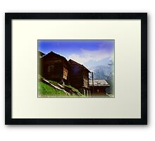 Mountain Huts Framed Print
