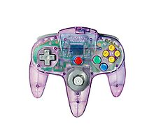 Nintendo 64 Controller Atomic Purple by jamesborgvisual