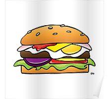 Burger on White Poster