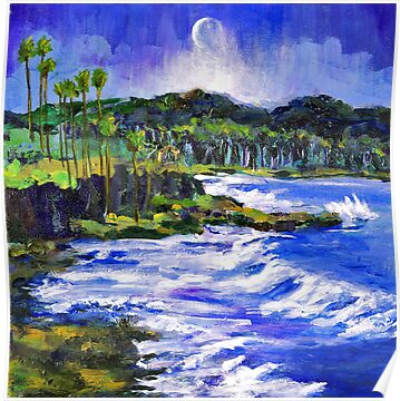 Blue Moon Over Laguna Beach by Randy Sprout