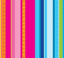 Bright stripes with stars by Kat Massard